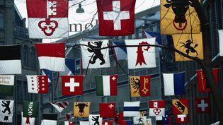 Les drapeaux de la Suisse et de ses cantons  (URSULA GAHWILER / ROBERT HARDING HERITAGE)