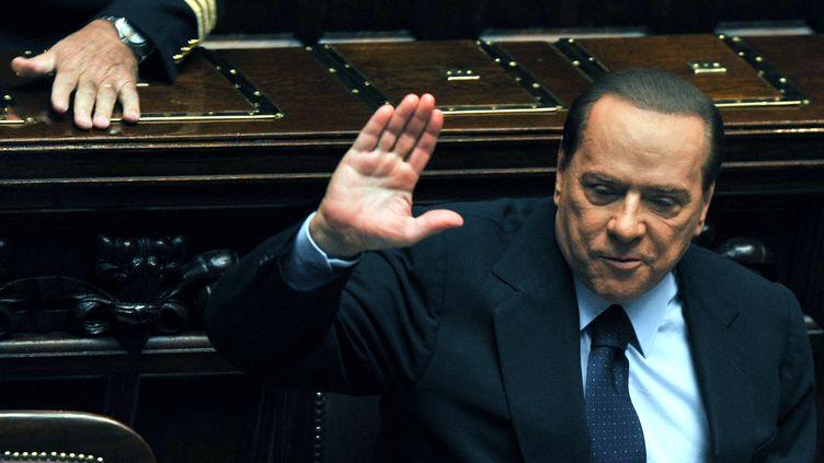 Le chef du gouvernement italien à la Chambre des députés le 14 octobre 2011. (ANDREAS SOLARO / AFP)