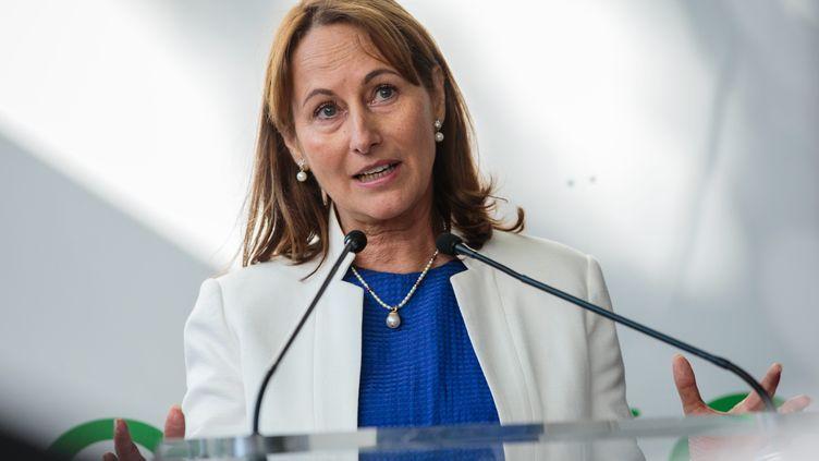 Ségolène Royal, ministre de l'Environnement, à l'inauguration de l'exposition Cap sur la COP22, à Paris,le 14 septembre 2016. (MAXPPP)