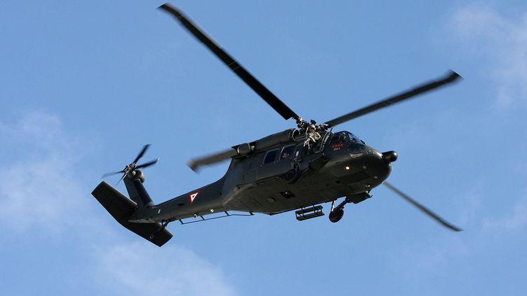 Un hélicoptère EC-725 Cougar du groupe Eurocopter. (CARLOS BAEZ / AFP)