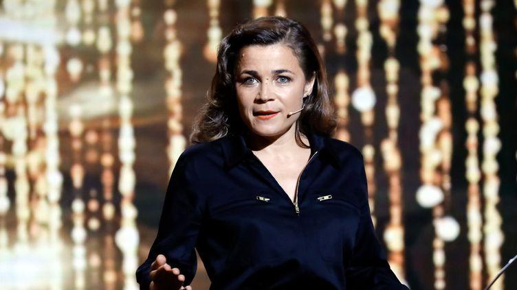 Blanche Gardin, à la fois remettante et lauréate d'un Molière de l'humour, le 28 mai 2018  (Romuald Meigneux / Sipa)