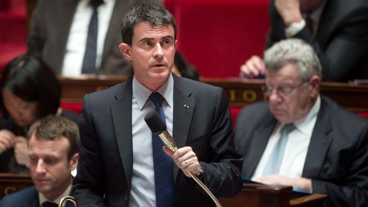 Manuel Valls à l'Assemblee nationale, le 17 janvier2015 (CHAMUSSY / SIPA)