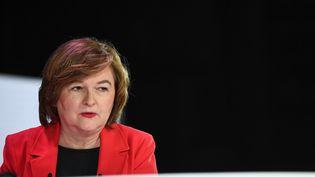 La tête de liste La République en marche pour les élections européennes, Nathalie Loiseau, lors d'un débat organisé par la Fédération nationale de la Mutualité française, le 11 avril 2019 à Paris. (ANNE-CHRISTINE POUJOULAT / AFP)