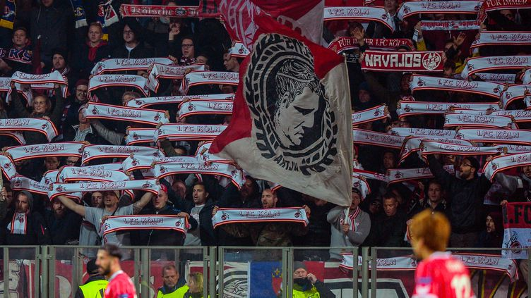 Les supporters de Cologne (MAXIM MALINOVSKY / AFP)