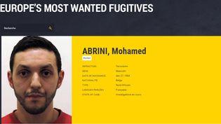 L'avis de recherche qui visaitMohamed Abrini, publié sur le site d'Europol, l'office de police criminelle intergouvernemental européen. (EUROPOL)
