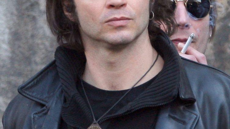 Bertrand Cantat, le 20 mars 2009 à Paris, lors des obsèques d'Alain Bashung. (PATRICK KOVARIK / AFP)