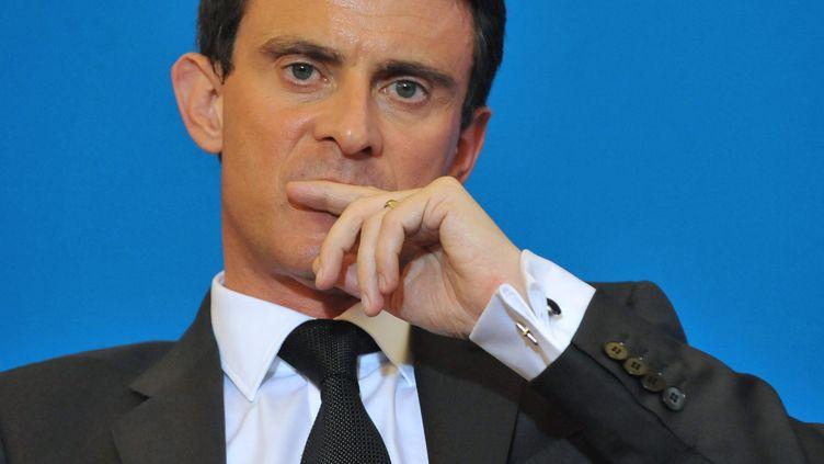 Le Premier ministre, Manuel Valls, à Clermont-Ferrand (Puy-de-Dôme), le 2 juillet 2014. (THIERRY ZOCCOLAN / AFP)