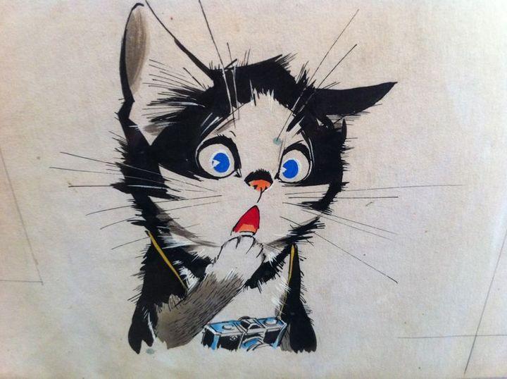 Un chat aux expressions humaines dessiné par Pierre Probst.  (Pierre Probst )