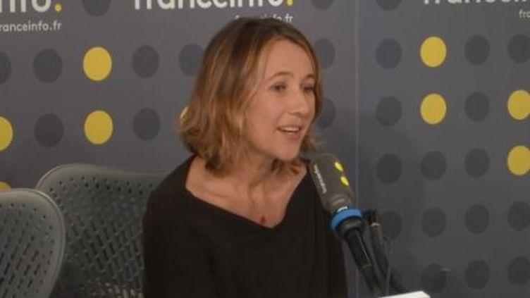 Alexia Laroche-Joubert était l'invitée de l'Info médias le 21 février 2020 (capture écran). (FRANCEINFO / RADIOFRANCE)