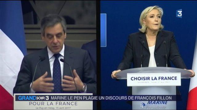 Présidentielle : Marine Le Pen plagie un discours de François Fillon