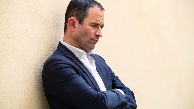 Benoît Hamon avant un meeting de Génération.s, le 3 avrl 2019 à Paris. (BERTRAND GUAY / AFP)