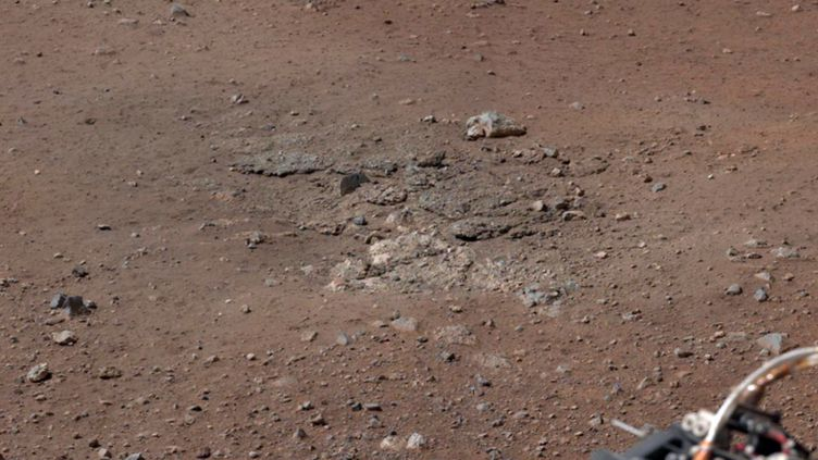 La Nasa a montré de nouvelles photos de Mars prises par le robot Curiosity, le 17 août 2012. (HO / NASA / AFP)