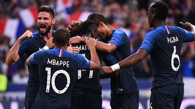 L'Equipe de France de football a battu l'Allemagne (2-1), le 16 octobre 2018, au Stade de France. (FRANCK FIFE / AFP)
