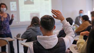 Dans un collège alsacien, le 12 février 2021 (image d'illustration). (VANESSA MEYER / MAXPPP)