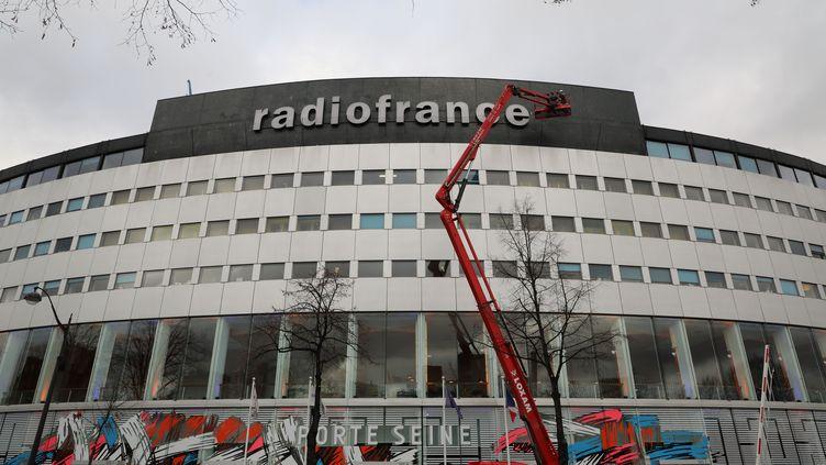 La maison de Radio France, siège du groupe de radios publiques, à Paris, le 24 janvier 2018. (LUDOVIC MARIN / AFP)