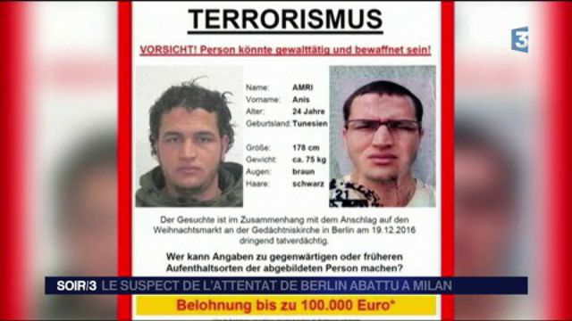 Le suspect de l'attentat de Berlin abattu
