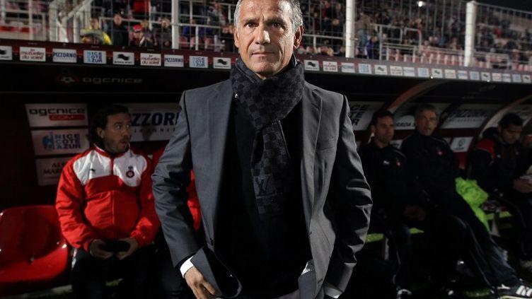 René Marsiglia en 2011, sur le banc de Nice (VALERY HACHE / AFP)