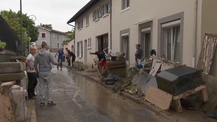 Inondatin Chaponnay (Rhône), juin 2018. (FRANCE 2)