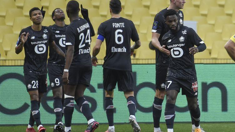 Lille enchaîne sa sixième victoire consécutive dimanche 7 février 2021, à Nantes. (SEBASTIEN SALOM-GOMIS / AFP)