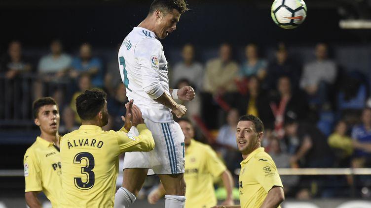 Cristiano Ronaldo buteur avec le Real Madrid (JOSE JORDAN / AFP)