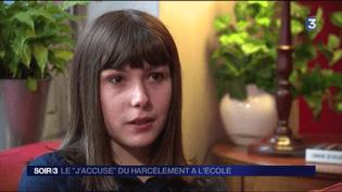 Mathilde, victime de harcèlement scolaire lorsqu'elle était au collège, a décidé de témoigner. (FRANCE 3)