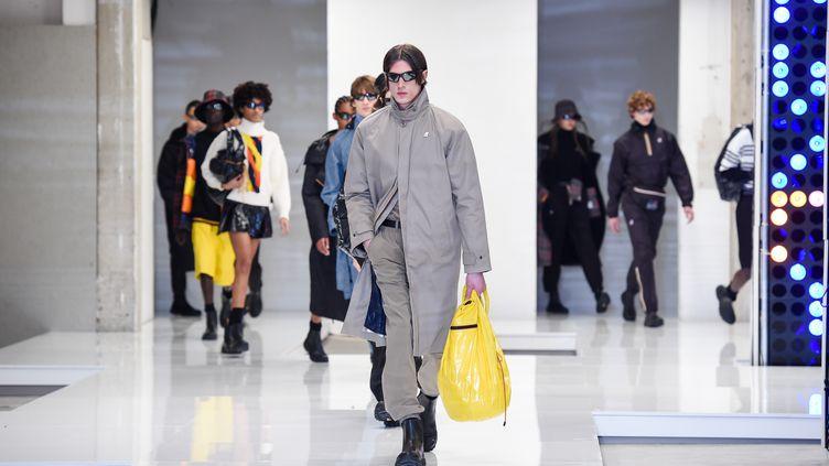 Show K-Way pendant la Milan Fashion Week masculine automne-hiver 2021-22, le 17 janvier 2021 à Milan en Italie (STEFANIA M. D'ALESSANDRO / GETTY IMAGES EUROPE)