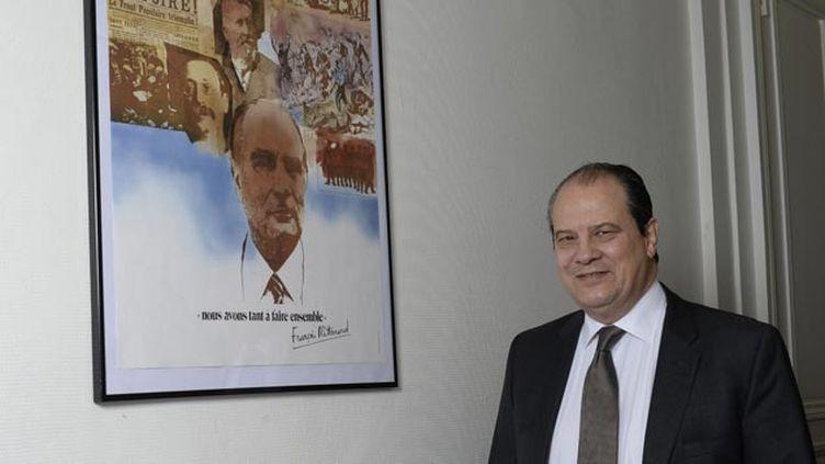 (Jean-Christophe Cambadélis au siège du PS © JEROME MARS/JDD/SIPA)
