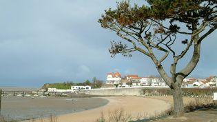La plage de Fouras où du pollen a été retrouvé. (XAVIER LEOTY / MAXPPP)