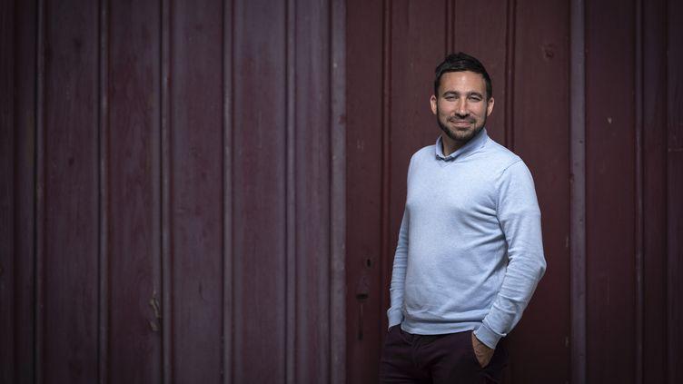 Le nouveau maire de Moissac dans le Tarn-et-Garonne, Romain Lopez (Rassemblement national), le 16 juin 2020. (LIONEL BONAVENTURE / AFP)