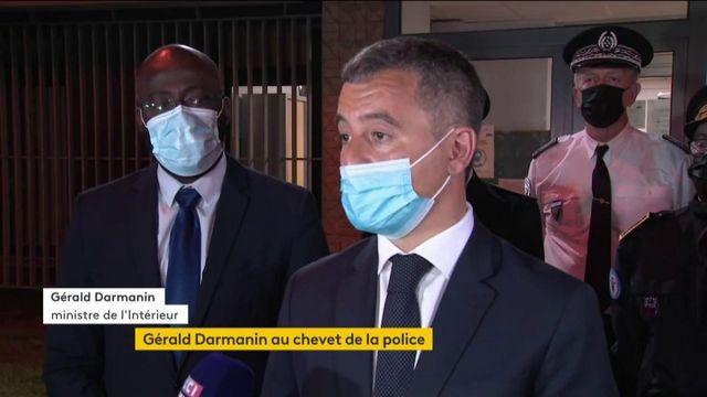 Seine-Saint-Denis : Gérald Darmanin vient apporter son soutien aux policiers menacés