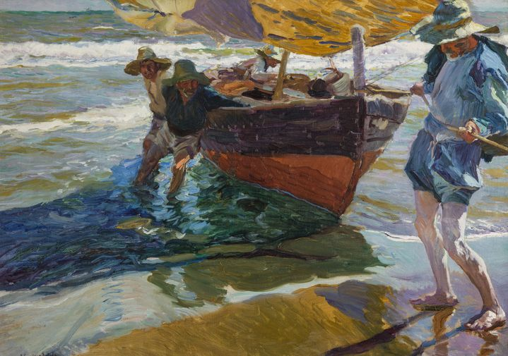 """Joaquín Sorolla, """"Le retour de pêche"""", 1904, Musei di Nervi – Raccolte Frugone Photo (© Armando Pastorino)"""