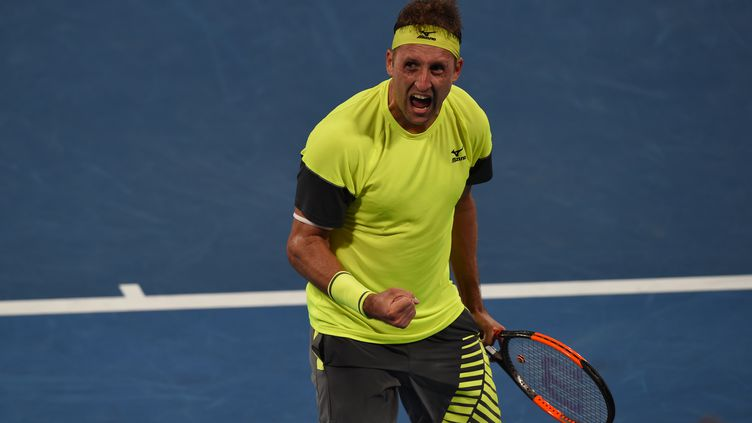 Tennys Sandgren est en quarts de finale de l'Open d'Australie (GREG WOOD / AFP)