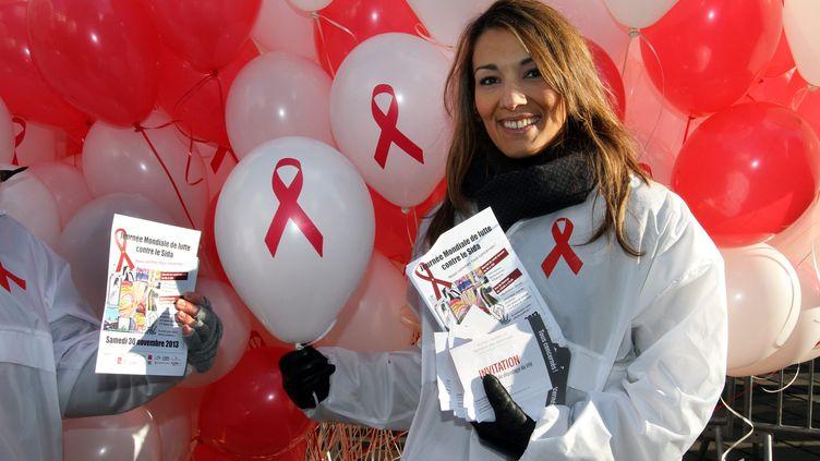 Cette année, la Journée mondiale de lutte contre le sida aura lieu le vendredi 1 er décembre. L'occasion d'informer sur le VIH, son mode de transmission, les avancées de la recherche. Photo d'illustration lors de la mobilisation de 2013, ci-contre à Mulhouse. (MAXPPP)