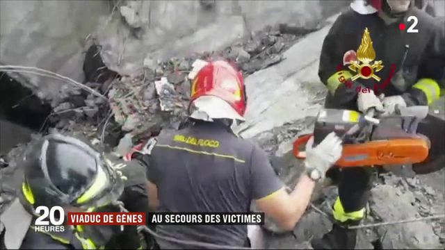 Effondrement d'un pont à Gênes : un bilan très lourd