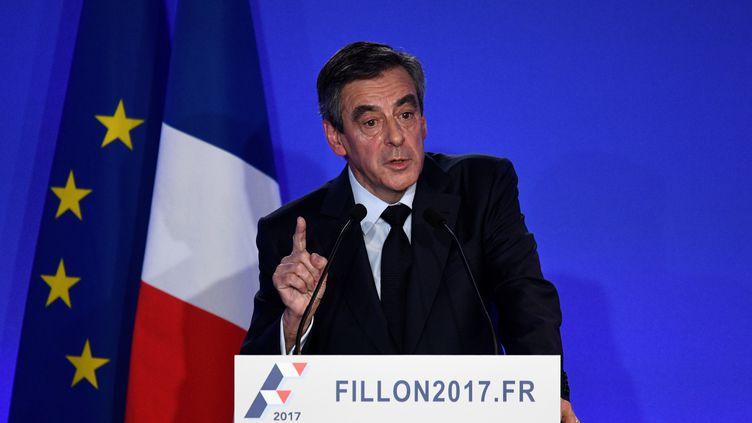 François Fillon, le 6 février 2017, à Paris (MARTIN BUREAU / AFP)