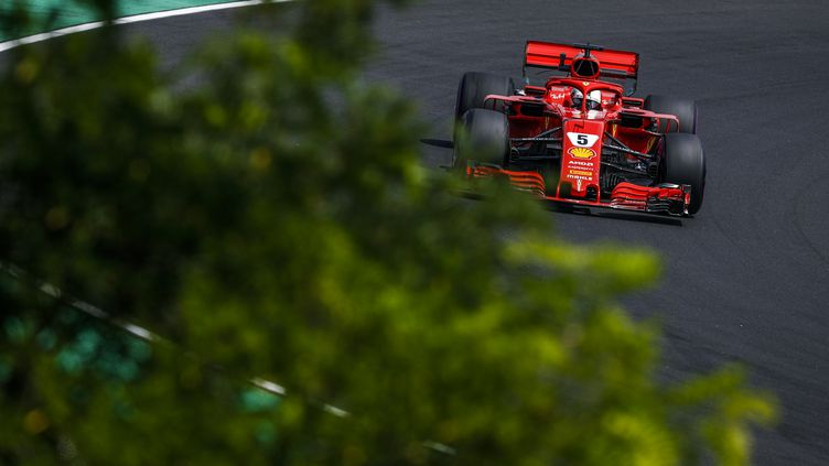 Sebastian Vettel au volant de sa Ferrari (FLORENT GOODEN / DPPI MEDIA)