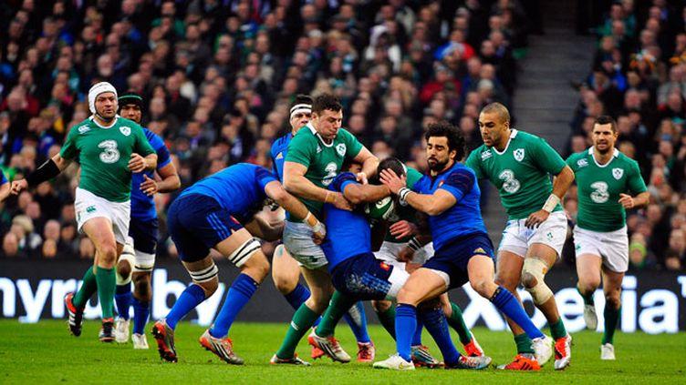(Le XV de France s'est incliné face à  l'Irlande 18 à 11, samedi à Dublin lors de la deuxième journée du Tournoi des six nations © Maxppp)