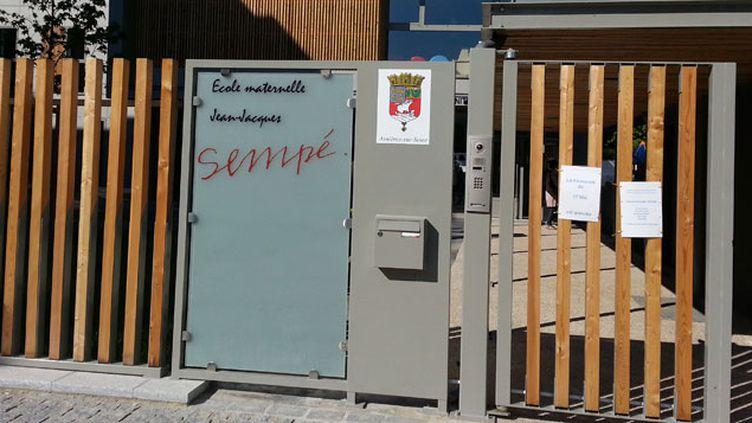 (L'école Sempé d'Asnières attend le retour des élèves © Radio France/Anne-Laure Barral)