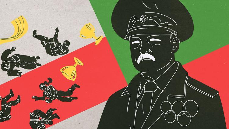 En Biélorussie, plusieurs athlètes olympiques ont pris position contre le régime d'Alexandre Loukachenko. Ils en subissent les conséquences en vivant une préparation perturbéeen vue des Jeux olympiques de Tokyo. (JESSICA KOMGUEN / FRANCEINFO)