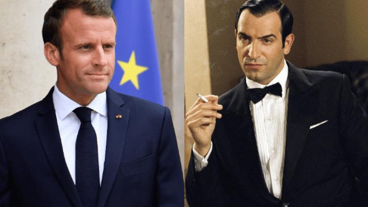 Le président de la République Emmanuel Macron, ici le 5 juin 2018 à Paris, a tenu des propos qui peuvent faire penser au personnage de Hubert Bonisseur de La Bath, de la série OSS 117. (JULIEN MATTIA / NUR PHOTO / AFP / NANA PRODUCTIONS / SIPA)