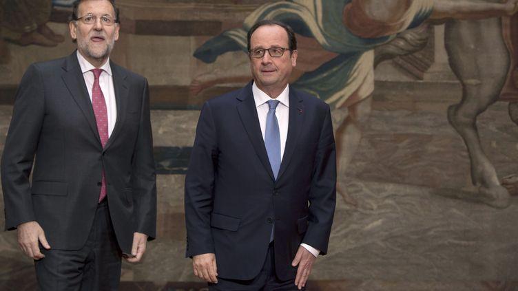 François Hollande à l'Elysée lors du sommet franco-espagnol, le 1er décembre 2014. (LIONEL BONAVENTURE / AFP)
