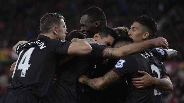 La joie des joueurs de Liverpool