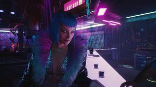 """""""Cyberpunk 2077"""", sortie annoncé le 10 décembre plus de huit ans après l'annonce du développement du jeu. Capture d'écran de la bande-annonce officielle de gameplay publiée le 19 novembre 2020 sur YouTube par l'éditeurCD PROJEKT RED. (FRANCEINFO / RADIOFRANCE)"""