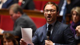 Patrick Mignola, président du groupe MoDem à l'Assemblée nationale, le 20 février 2018. (ERIC FEFERBERG / AFP)