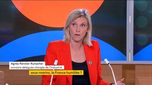 La ministre déléguée chargée del'Industrie, Agnès Pannier-Runacher, le 16 septembre 2021, sur franceinfo. (FRANCEINFO)