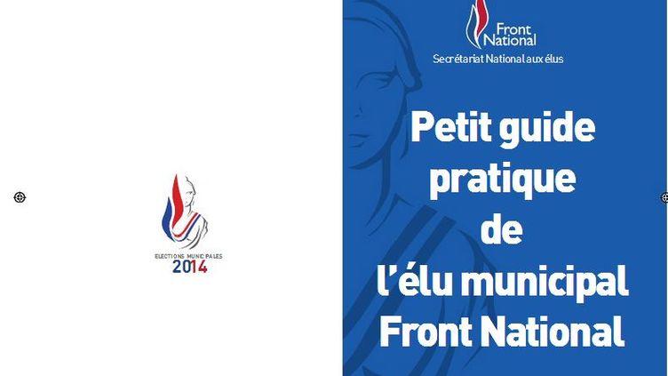 """Capture d'écran du """"Petit guide pratique de l'élu municipal Front national"""". (FN )"""