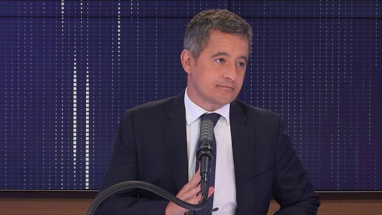 Gérald Darmanin, ministre de l'Intérieur, le 24 août 2021 sur franceinfo. (FRANCEINFO / RADIO FRANCE)