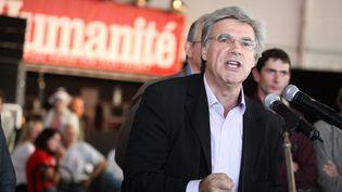 """Le directeur du journal """"L'Humanité"""", Patrick Le Hyaric, en septembre 2011 à la Fête de l'huma. (MAXPPP)"""