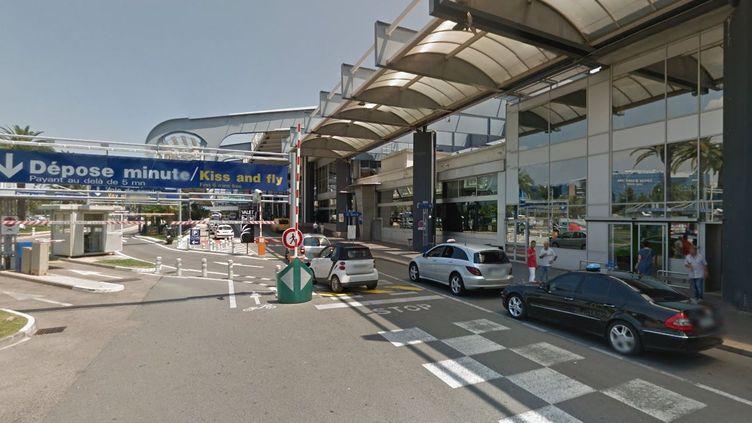 Capture d'écran de Google Street View montrant l'aéroport de Nice. (GOOGLE STREET VIEW)