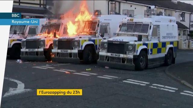 Eurozapping : le Brexit ravive des tensions en Irlande du Nord ; une expo nazie controversée
